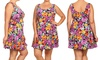 Women's Plus-Size Floral Fit-and-Flare Skater Dress: Women's Plus-Size Floral Fit-and-Flare Skater Dress
