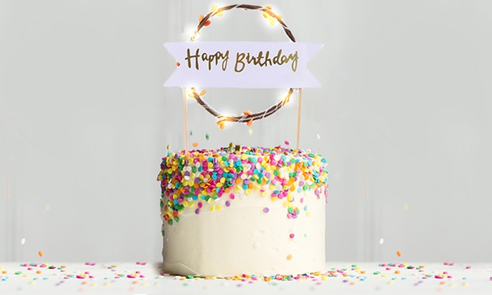 Excellent Happy Birthday Led Cake Topper Groupon Goods Funny Birthday Cards Online Aboleapandamsfinfo
