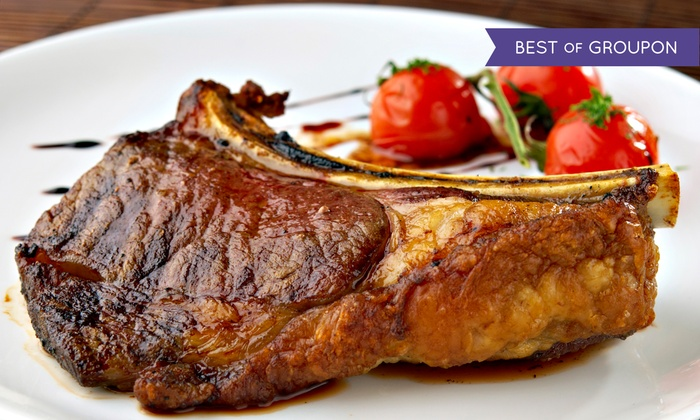 Statler Grill - Midtown Manhattan: Four-Course Steak-House Dinner for Two or Four with Wine at Statler Grill (Up to 49% Off)