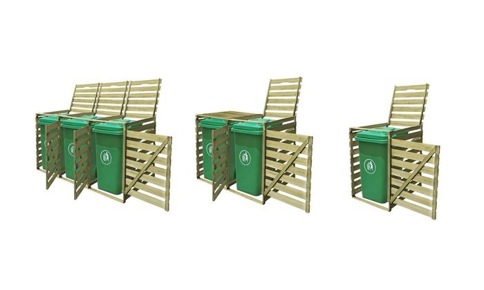 Estremamente Copribidone in legno per spazzatura disponibile in 3 misure da 49 MQ66