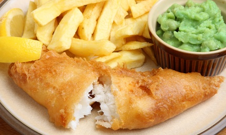 Large Fish and Chips Meal with side for Two at Mackays Fish And Chips Shop (23% Off)