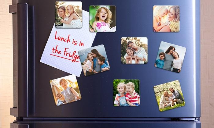 9, 18 ou 27 magnets personnalisés, de 50mm x 50mm ou 70mm x 70mm, dès 3,90 € avec Photo Gifts (jusqu'à 83% de réduction)