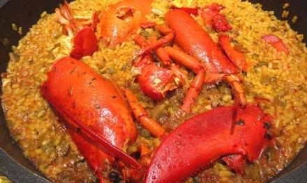 Menú de arroz y bogavante para 2 o 4 con aperitivo,principal,postre y bebida en La Pinta(hasta 35% de descuento)