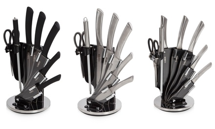 Tower SevenPiece Knife Set with Stand in Choice of Design