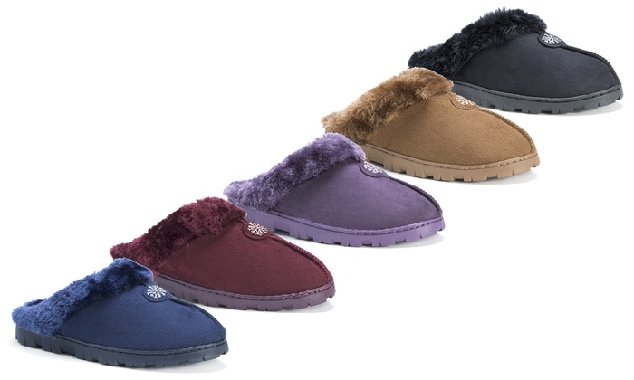 Muk Luks Women's Faux-Fur Clogs
