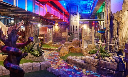 18Hole Game of Crazy Golf for Two with Soft Drink and Ice Cream or for Family of Four at Amazonia