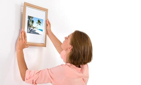 Tiras o ganchos adhesivos de pared para colgar cuadros