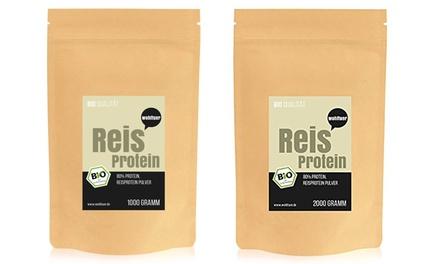 Wohltuer Bio-Reisprotein mit 80% Eiweiß inkl. Versand (bis zu 27% sparen*)