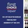 First Choice Liquor: 50% Off Bundles