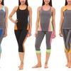 Lightweight Stretchy Women's Yoga Set (4-Piece; 2 Bottoms, 2 Tops)