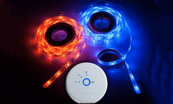 Up to 50 off on philips light strips refurb groupon goods philips hue color changing light strip starter pack refurbished aloadofball Image collections