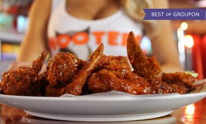 40% Off Wings, Burgers, and Seafood at Hooters at Hooters, plus 9.0% Cash Back from Ebates.