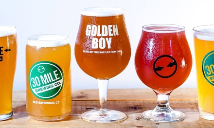 Tasting Package for Two or Four People at 30 Mile Brewing (Up to 49% Off)