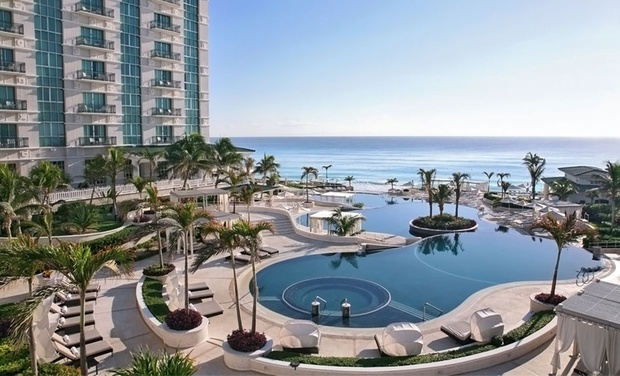 TripAlertz wants you to check out 3-, 4-, or 5-Night All-Inclusive Stay for Two at Sandos Cancun Luxury Experience Resort. Includes Taxes and Fees. All-Inclusive 4-Star Cancún Beach Resort - All-Inclusive Cancún Stay
