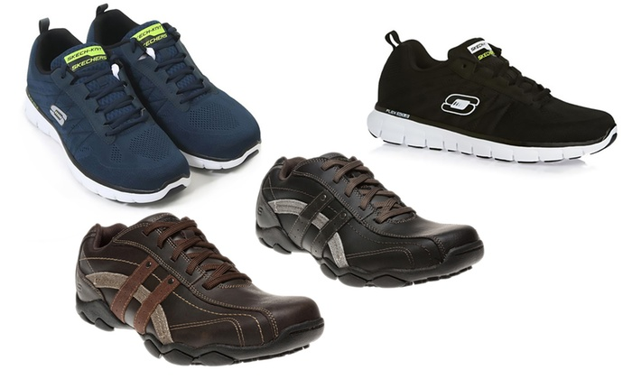 Men's Skechers Synergy Trainers   Groupon Goods
