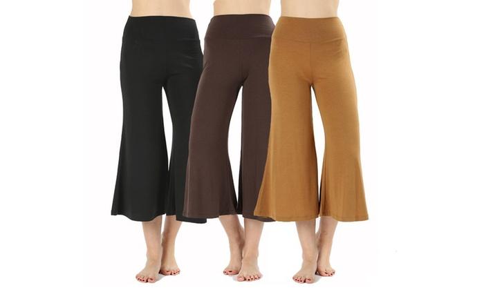 39c3505824e Women s Gaucho Capri Pants (3-Pack)