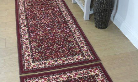 Washable Floral Runner and Doormat in a Choice of Colour and Size