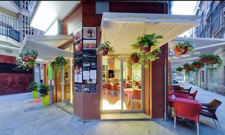 Menú mediterráneo para 2 o 4 personas con entrantes, principal, postre y bebida en Nuevo Boulevard Traperia