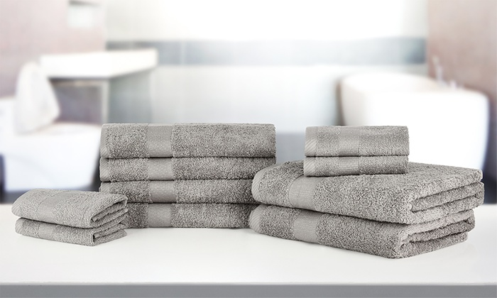 10 teiliges handtuch set groupon. Black Bedroom Furniture Sets. Home Design Ideas
