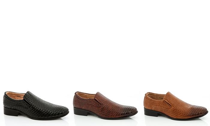 Adolfo Men's Textured Slip-On Dress Shoes