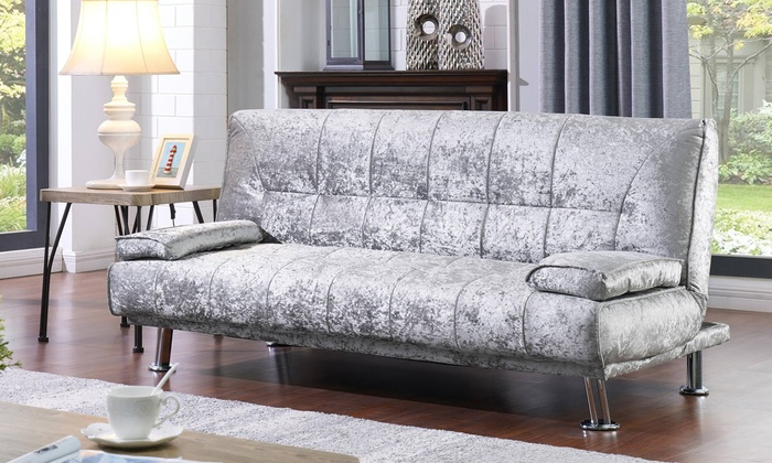 Up To 49 Off Crushed Velvet Fabric Sofa Bed Groupon