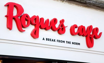 image for Burger and Fries with Beer or Wine for One, Two or Four at Rogues (Up to 62% Off)