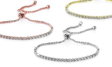 1, 2 o 3 pulseras Philip Jones decoradas con cristales de Swarovski®