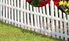 Four-Pack of Plastic Border Fence