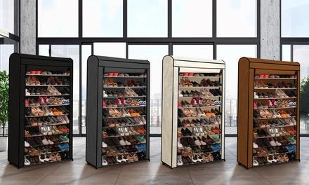 Étagère à chaussures pour 30 ou 50 paires + housse en option