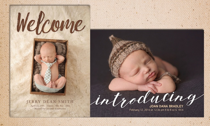 "York Photo: 20, 40, or 80 Custom 5""x7"" Photo Cards from York Photo (Up to 76% Off)"