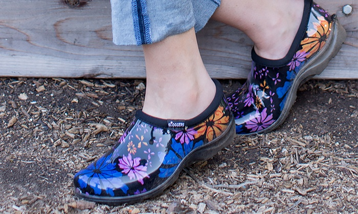 Sloggers women 39 s garden clogs groupon goods for Gardening 4 less groupon