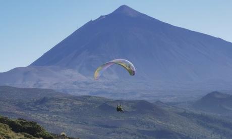 Vuelo didáctico o pasajístico en parapente por Tenerife para 1 o 2 personas con opción a fotos con Go Sporting Club