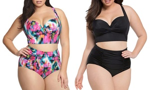 Bikini taille haute push-up Melia