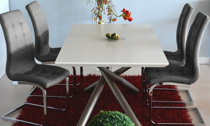 4 sedie da soggiorno emily groupon goods