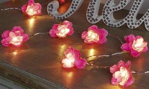 Guirlande à LED en forme de fleurs