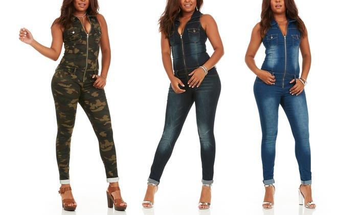 2019 discount sale elegant appearance official price Smart Jeans Women's Denim Jumpsuit. Junior and Plus Sizes ...