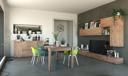 Credenza, parete da soggiorno o tavolo in pannelli di legno ...