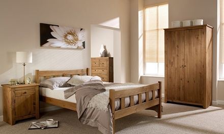 Handcrafted solid pine shaker style bedroom furniture from for Bedroom furniture deals