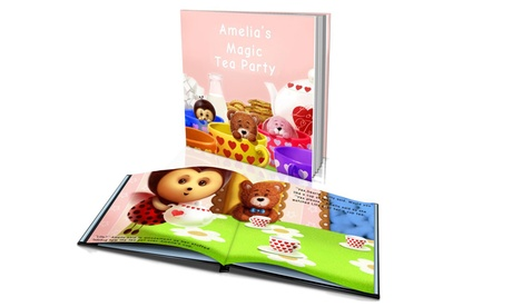 """Softcover or Hardcover """"Magic Tea Party"""" Personalized Kids' Story Book from Dinkleboo (Up to 65% Off) b13fe62e-6926-4c8d-ae6c-081c5cb0374d"""
