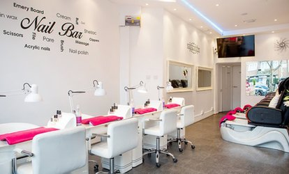 image for Gel Polish or Manicure, Pedicure or Both with Optional Gel or Shellac Polish at Battersea Nails & Beauty (Up to 67% Off)