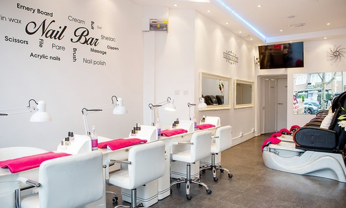 Gel Polish or Manicure, Pedicure or Both with Optional Gel or Shellac Polish at Battersea Nails & Beauty (Up to 67% Off)