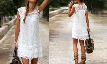 Lace Mini Dress: One $15 or Two $25