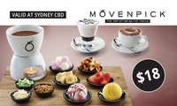$18 for Fondue Set and Choice of Hot or Cold Drinks for Two People at Mövenpick Ice Cream (Up to $36.85 Value)