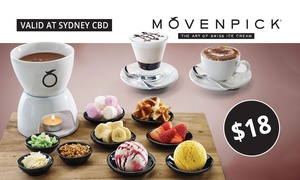 Mövenpick Ice Cream: $18 for Fondue Set and Choice of Hot or Cold Drinks for Two People at Mövenpick Ice Cream (Up to $36.85 Value)