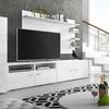 Meuble TV mural avec cave à vin