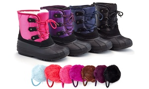 Snow Tec Abigail Kids' Snow Boots with Free Earmuffs