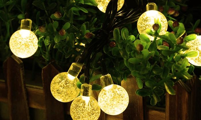 Guirlande solaire 30 ampoules led groupon shopping for Groupon giardino