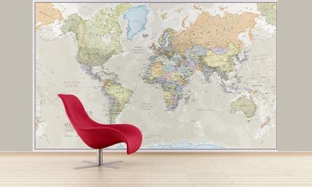Dekorative Weltkarte-Tapete im Design nach Wahl (Stuttgart)