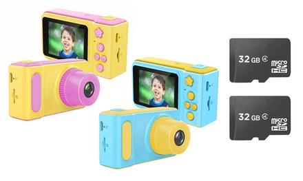 1 ou 2 appareils photo pour enfants, avec ou sans carte mémoire de 32 Go