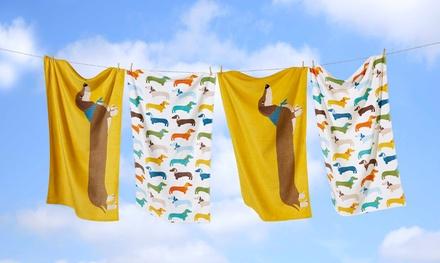 Sausage Dog Bath Towel